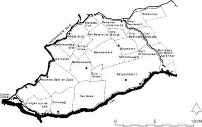 Kaart van de Krimpenerwaard met de huidige polders (© J.J. Jehee)