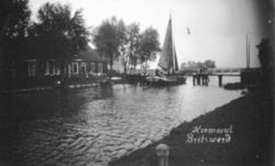 Buurtschap Kromwâl aan de Frjentsjerter Feart, begin 20e eeuw