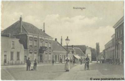 Kruiningen dorpsgezicht 1915