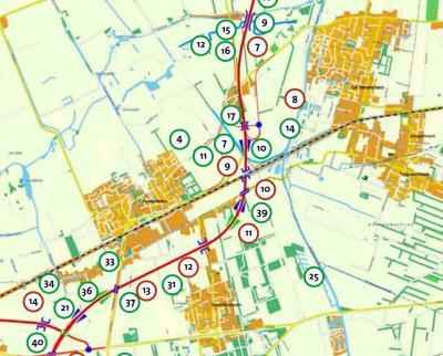 De in 2016 gereedgekomen Centrale As (N356) is om vier dorpen heen gelegd waar deze voorheen dóórheen liep, wat de verkeersveiligheid en leefbaarheid daar ten goede komt. De weg doorsnijdt nu wél de buurtschap Kûkherne (ter hoogte van de rode 10).