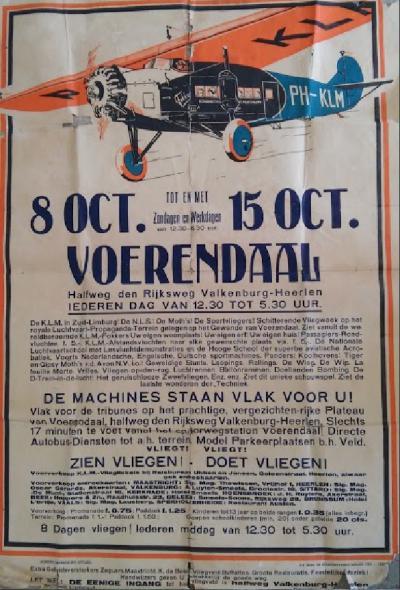 In 1933 wordt overwogen een vliegveld aan te leggen op het Plateau van Kunrade. In oktober 1933 is hier een 'luchtvaartpropagandaweek' met allerlei vliegdemonstraties. Gelukkig gaan de plannen niet door en komt het vliegveld uiteindelijk in 1945 bij Beek.