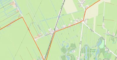 Buurtschap Laag-Nieuwkoop ligt rond de gelijknamige weg, ZO van Kockengen, NW van Haarzuilens en Kasteel De Haar. (© www.openstreetmap.org)