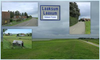 Laaxum, collage van buurtschapsgezichten (© Jan Dijkstra, Houten)