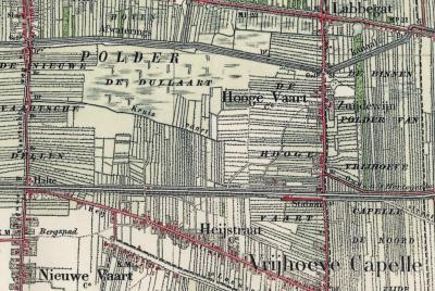 Labbegat heeft vanouds, en terecht, altijd als buurtschap in de atlassen gestaan, bijv. hier in een atlas uit ca. 1900
