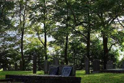 Het kerkhof in het sinds 1862 kerkloze Lagemeeden (© Harry Perton / https://groninganus.wordpress.com/2016/10/09/rondje-lagemeeden)