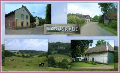 Landsrade, collage van buurtschapsgezichten (© Jan Dijkstra, Houten)