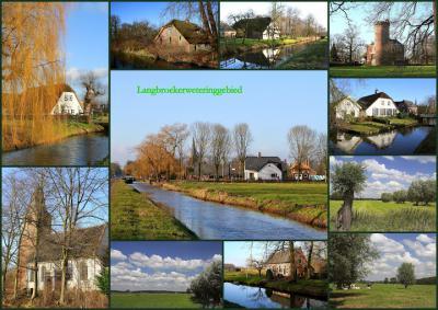 Langbroek, collage van dorpsgezichten (© Jan Dijkstra, Houten)
