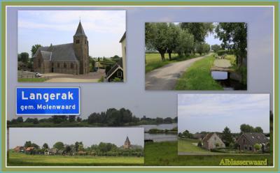 Langerak, collage van dorpsgezichten (© Jan Dijkstra, Houten)