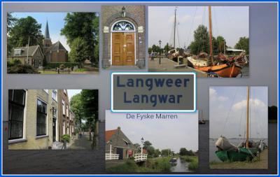 Langweer, collage van dorpsgezichten (© Jan Dijkstra, Houten)