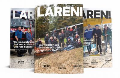 Sinds 2016 is er het prachtige kleurrijke kwartaalmagazine Laren! Magazine, dat bij de inwoners gratis in de bus valt. Gelukkig is hij voor mensen 'van buiten' die in het dorp geïnteresseerd zijn ook online te lezen!