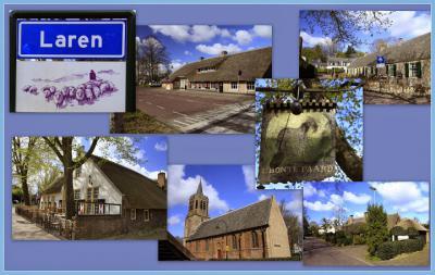 Laren, collage van dorpsgezichten (© Jan Dijkstra, Houten)