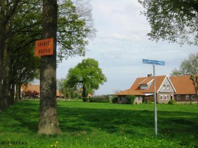 ZO van Lattrop, op de hoek van de Frensdorferweg met de Korenmorsweg, heeft in ieder geval van 2009 tot 2012 dit bordje 'Oranje Nijstad' gehangen. Nu hangt het er niet meer. Weet iemand wat men hiermee beoogde aan te duiden? Iets met carnaval wellicht?