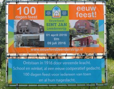 Leenderstrijp heeft in 2016 100 dagen feest gevierd i.v.m. het 100-jarig bestaan van de school en de coöperatieve dorpswinkel