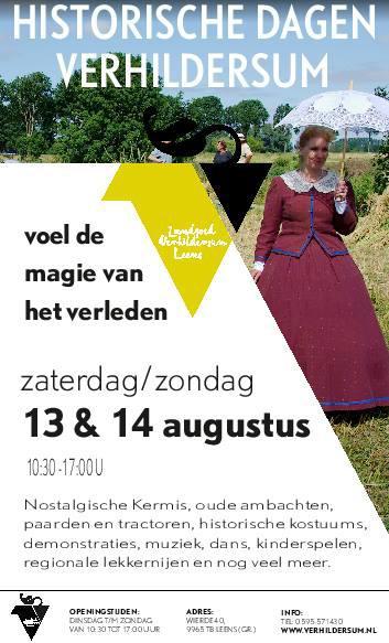 Leens is ook bekend van het imposante Landgoed Verhildersum. Het is een museum, en door het jaar heen zijn er ook allerlei bijzondere evenementen. Zo zijn de Historische Dagen in een weekend in augustus met ca. 5.000 bezoekers altijd een groot succes.
