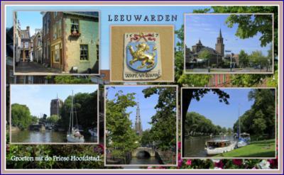 Leeuwarden, collage van stadsgezichten (© Jan Dijkstra, Houten)