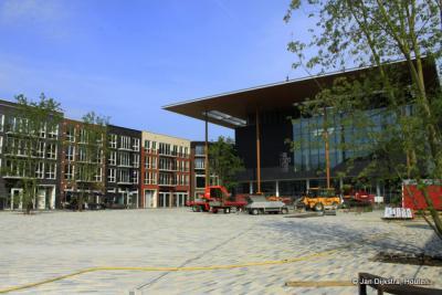 Leeuwarden, het nieuwe Fries Museum op het Wilhelminaplein
