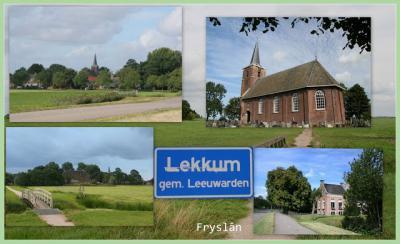 Lekkum, collage van dorpsgezichten (© Jan Dijkstra, Houten)