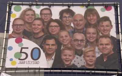 Het eerste huis in de huidige stad Lelystad is verrezen in 1967. Daarom is in 2017 het 50-jarig bestaan gevierd.