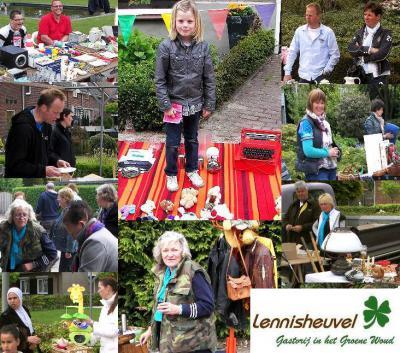 Op een zondag in april organiseert buurtvereniging De Mijlpaal haar jaarlijkse rommelmarkt in Lennisheuvel (Mijlstraat).