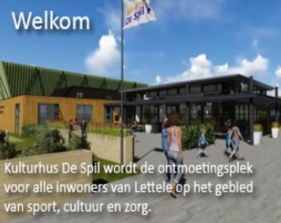 Kulturhus De Spil in Lettele is in 2015 en 2016 met inzet van vele vakmensen en vrijwilligers grootschalig vernieuwd om voor de komende jaren nog beter toegerust te zijn voor zijn functie van bruisend dorpshart op het gebied van sport, cultuur en zorg.