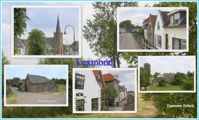 Lexmond, collage van dorpsgezichten (© Jan Dijkstra, Houten)