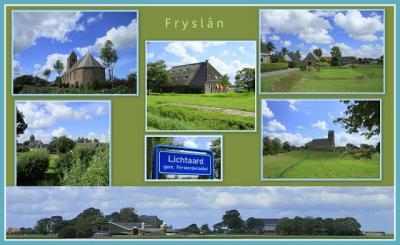 Lichtaard, collage van dorpsgezichten (© Jan Dijkstra, Houten)