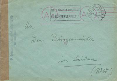 De Duitse bezetters stuurden medio 1943 een brief vanuit België aan de burgemeester van Linden. Zij wisten kennelijk niet dat die gemeente al per 1-8-1942 was opgeheven. Óf werd wellicht een van de andere Lindens in Europa bedoeld?
