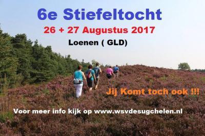 Jaarlijks is er vanuit Loenen de Stiefeltocht (weekend eind augustus). Een zeer aantrekkelijke wandeltocht door het Veluwse landschap met uitgestrekte bossen en golvende heidevelden. Je kunt kiezen uit de afstanden 6, 12, 15, 20, 25 en 30 km.
