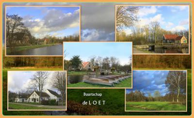 Loet, collage van buurtschapsgezichten (© Jan Dijkstra, Houten)
