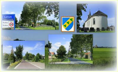 Lollum, collage van dorpsgezichten (© Jan Dijkstra, Houten)