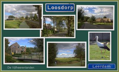 De uitbreidingen van Leerdam met de wijk Noord hebben gelukkig nét niet het oude buurtschapje Loosdorp opgeslokt, zodat dat nog altijd een landweggetje is met mooie oude boerderijen en woonhuizen en een slootje. (© Jan Dijkstra, Houten)