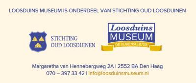 Aan de voet van korenmolen De Korenaer in Loosduinen staat langs de vaart de molenaarswoning en daarachter Loosduins Museum De Korenschuur, waar je vaste en wisselende tentoonstellingen vindt over de geschiedenis van dit voormalige tuindersdorp.