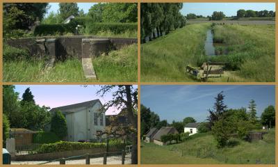 Lopik, het voormalige stoomgemaal van de polders Vogelenzang en Wiel uit 1872 (Lekdijk-West 1, op de grens met Jaarsveld; met heul) is in 1947 verbouwd tot woonhuis (© Jan Dijkstra, Houten)