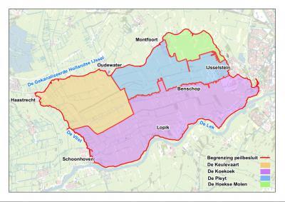 Kaart van de Lopikerwaard van (©) Hoogheemraadschap De Stichtse Rijnlanden (HDSR)