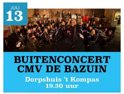 Muziekvereniging De Bazuin treedt door het jaar heen een aantal keren op in het dorp. Zo is er bijv. in juli het Buitenconcert. Bij evt. slecht weer wordt dat gewoon een Binnenconcert, in het Dorpshuis.