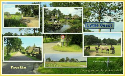 Lytse Geast, collage van buurtschapsgezichten (© Jan Dijkstra, Houten)
