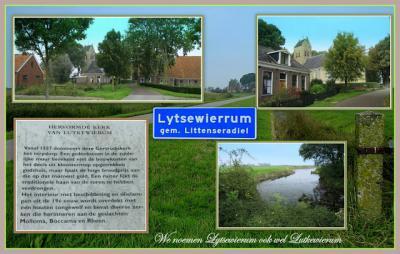 Lytsewierrum, collage van dorpsgezichten (© Jan Dijkstra, Houten)