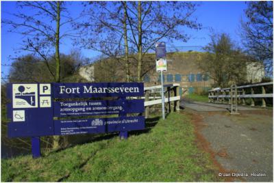 De toegang naar Fort Maarsseveen