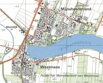 In de jaren negentig van de 20e eeuw is de bebouwing aan de Maasdijk er al wel, er is tot dan echter nog geen sprake van Maasdijk als plaatsnaam.