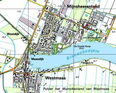 Rond 2000 verschijnt Maasdijk - vanouds onder de gemeente Mijnsheerenland - ineens als plaatsnaam op de kaarten.
