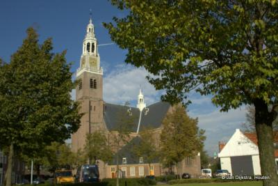 De Groote kerk op een eiland in Maassluis.