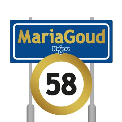Toen we deze fraaie compositie ontdekten op het internet, dachten we even aan een drukfout: moet MariaGoud niet Mariahout zijn? En mag je daar max. 58 km/uur? Nee toch? Uiteraard hebben we uitgezocht hoe deze vork in de steel zit. Zie het kopje Beeld.
