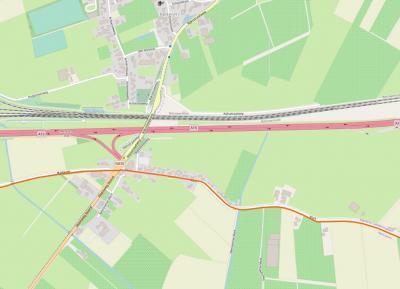 Voor de duidelijkheid in deze bijna Baarle-Nassau-achtige toestand ook maar een kaartje erbij: Mark, gem. Geldermalsen is het N deel van de weg, Neerijnense Mark, gem. Neerijnen is het Z deel, plus een verticaal stukje, O parallel aan de N830 (Steenweg).
