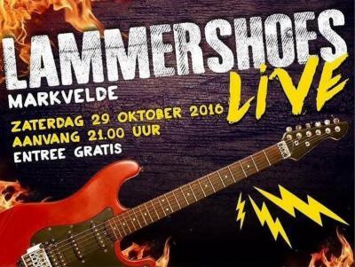 Het doel van Lammershoes Live in buurtschap Markvelde is om 3 of 4 veelbelovende bands uit de regio de kans te geven om voor een groter publiek te spelen en de bezoekers van het evenement op een spetterende muziekavond te trakteren. En dat nog gratis ook.