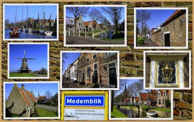 Medemblik, collage van stadsgezichten (© Jan Dijkstra, Houten)