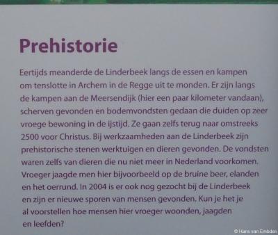 Informatiepaneel 2 over de geschiedenis van buurtschap Meer