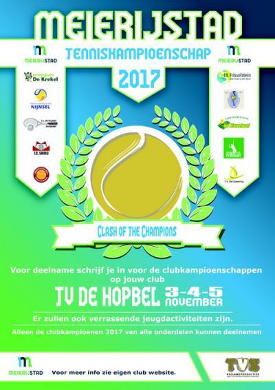 Initiatiefnemer Tennisvereniging De Hopbel uit Schijndel speelt mooi in op de in 2017 ontstane gemeente Meierijstad door het organiseren van Tenniskampioenschap Meierijstad (weekend begin november). De intentie is dat dit een jaarlijks evenement wordt.