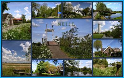 Meije, collage van dorpsgezichten (© Jan Dijkstra, Houten)