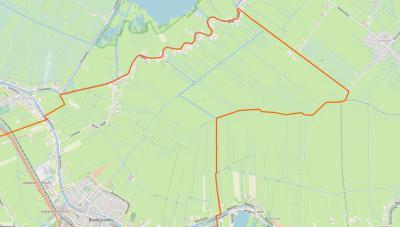 Het dorp Meije valt voor de postadressen onder vier dorpen, drie gemeenten en twee provincies: o.a. binnen de oranje lijn = Bodegraven, gem. Bodegraven-Reeuwijk, ZH; NO ervan = Zegveld, gem. Woerden, UT; N van de rivier Meije = dorp en gem. Nieuwkoop, ZH.