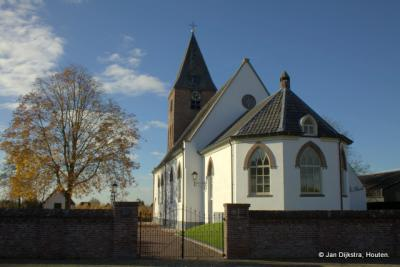 De Hervormde kerk aan de Dorpsstraat in Meteren